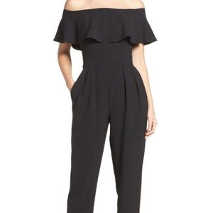 246f16e3f3b Eliza J strapless off shoulder ruffle jumpsuit